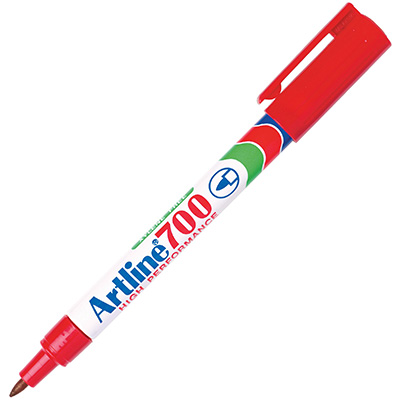 Image for ARTLINE 700 PERMANENT MARKER BULLET 0.7MM RED from Office National Perth CBD