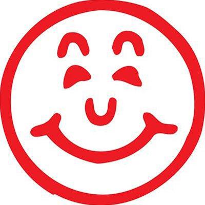 Image for XSTAMPER CE-16 MERIT STAMP SMILEY RED from Office National Kalgoorlie