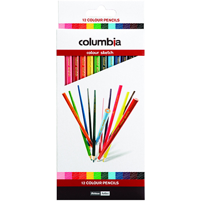 Image for COLUMBIA COLORSKETCH COLOURED PENCILS ASSORTED PACK 12 from Office National Kalgoorlie