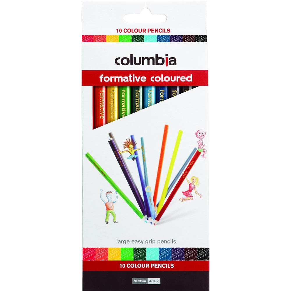 Image for COLUMBIA FORMATIVE COLOUR PENCIL ROUND ASSORTED PACK 10 from Office National Kalgoorlie