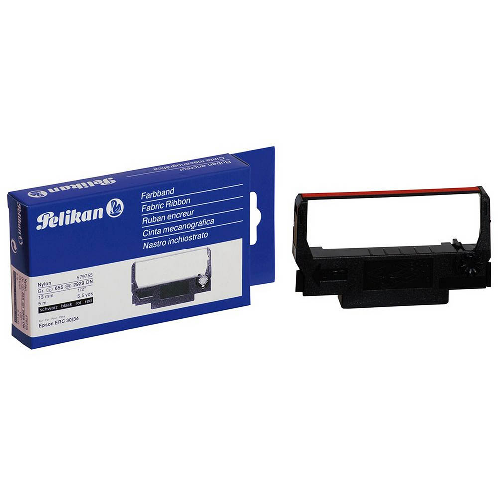 Image for PELIKAN EPSON ERC34/38 BLACK/RED NO579755 from Wetherill Park / Smithfield Office National