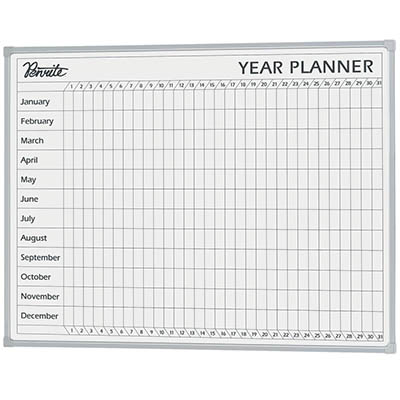 Image for QUARTET PENRITE PLANNER BOARD YEAR 900 X 1200MM from Paul John Office National