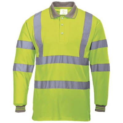 Image for PORTWEST S277 HI-VIS POLO SHIRT LONG SLEEVED from The Paper Bahn Office National