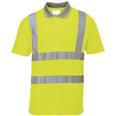 Image for PORTWEST S477 HI-VIS POLO SHIRT SHORT SLEEVE from The Paper Bahn Office National