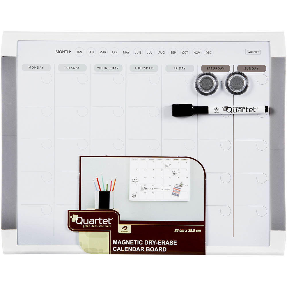 Image for QUARTET BASICS MONTHLY PLANNER BOARD 280 X 360MM WHITE FRAME from Axsel Office National