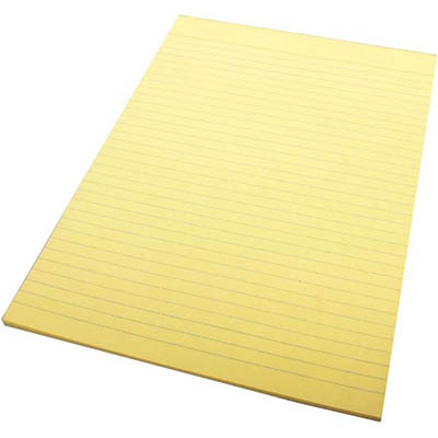 Image for QUILL RULED BOND PAD 70GSM 50 LEAF A4 YELLOW from Office National Perth CBD