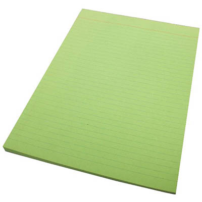 Image for QUILL RULED BOND PAD 70GSM 50 LEAF A4 GREEN from Office National Perth CBD