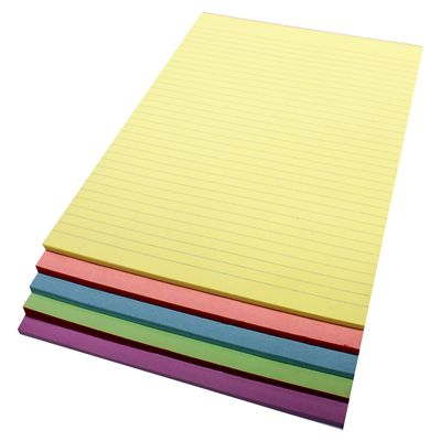 Image for QUILL RULED BOND PAD 70GSM 50 LEAF A4 ASSORTED PACK 5 from Office National Perth CBD