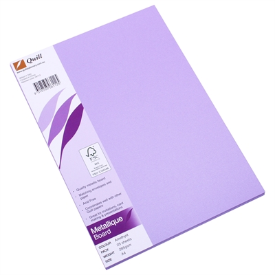 Image for QUILL METALLIQUE BOARD 285GSM A4 AMETHYST PACK 25 from Office National Kalgoorlie