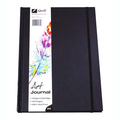 Image for QUILL ART JOURNAL HARDCOVER 125GSM 120 PAGES A4 BLACK from Wetherill Park / Smithfield Office National
