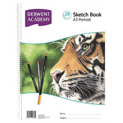 Image for DERWENT ACADEMY ARTIST SKETCH BOOK PP PORTRAIT A3 20 SHEETS from Our Town & Country Office National