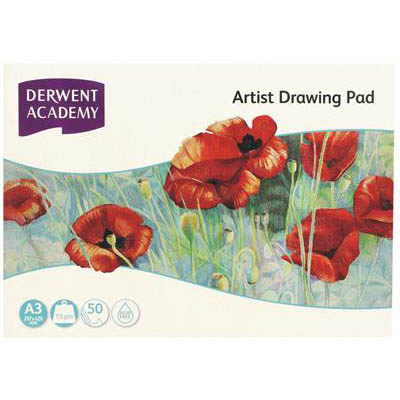Image for DERWENT ACADEMY ARTIST DRAWING PAD LANDSCAPE A3 50 SHEET from Wetherill Park / Smithfield Office National