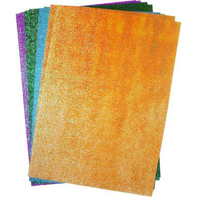 Image for RAINBOW GLITTER PAPER A4 ASSORTED PACK 50 from Wetherill Park / Smithfield Office National