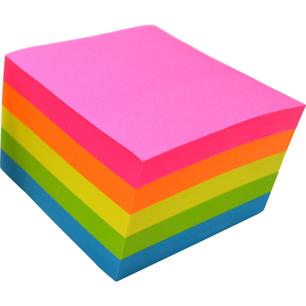 Image for RAINBOW MY CRAFT STICKY NOTES FLURO ASSORTED 76 X 76MM 500 SHEETS from Office National Perth CBD