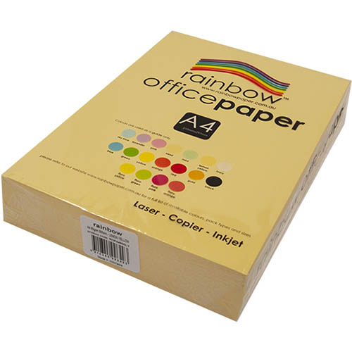 Image for RAINBOW COLOURED A4 COPY PAPER 80GSM 500 SHEETS LEMON YELLOW from Office National Barossa