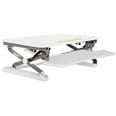 Image for RAPID RISER SMALL DESK BASED ADJUSTABLE WORKSTATION 680 X 590MM WHITE from Office National Capalaba