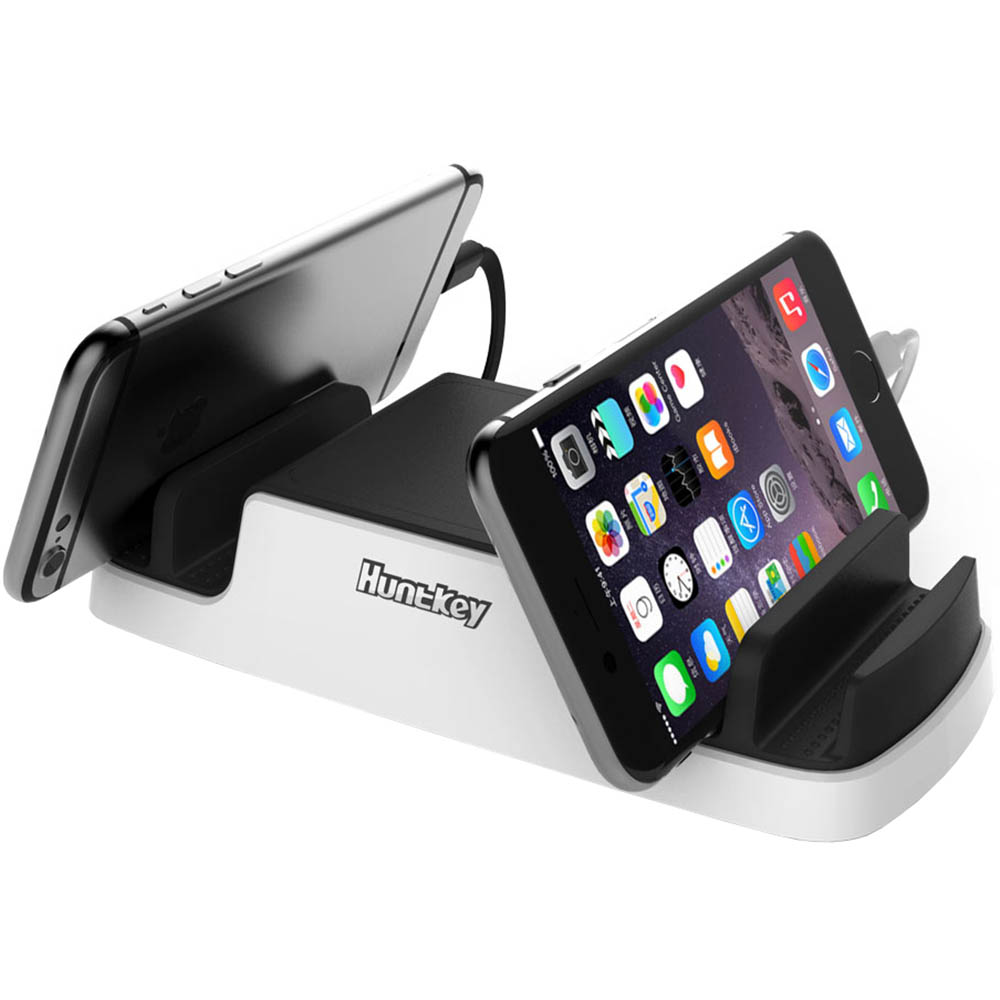 Image for HUNTKEY SMARTU 4-PORT 40W USB CHARGING DOCK BLACK/WHITE from Ezi Office National Tweed