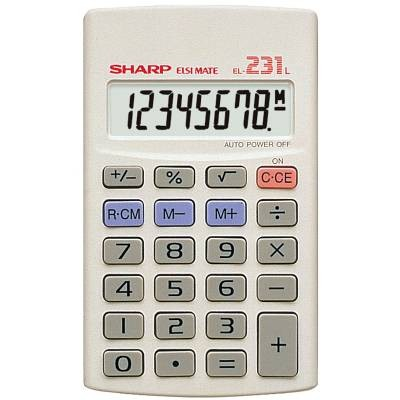 Image for SHARP EL231L BASIC FUNCTION 8 DIGIT CALCULATOR WHITE from Pirie Office National