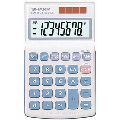 Image for SHARP EL240S POCKET CALCULATOR 8 DIGIT from Our Town & Country Office National