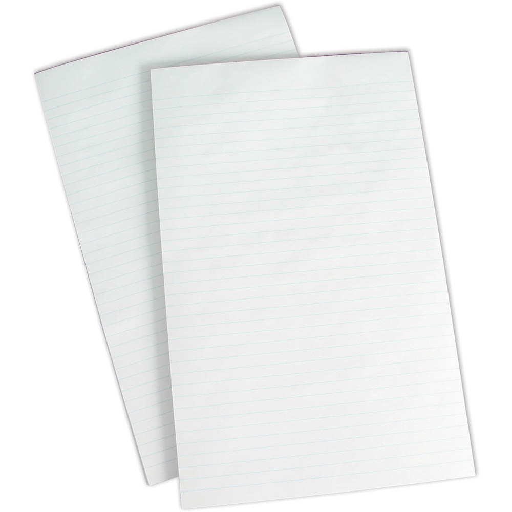 Image for OLYMPIC WRITING PAD 8MM RULED 50GSM 200 PAGE FOOLSCAP WHITE from Axsel Office National