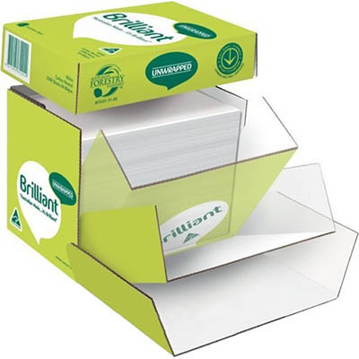 Image for BRILLIANT A4 COPY PAPER 80GSM WHITE UNWRAPPED BOX 2500 SHEETS from Aztec Office National Melbourne