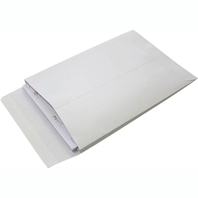 Image for TUDOR C4 ENVELOPES POCKET EXPANDABLE PLAINFACE STRIP SEAL 150GSM 324 X 229MM WHITE BOX 100 from Office National Perth CBD