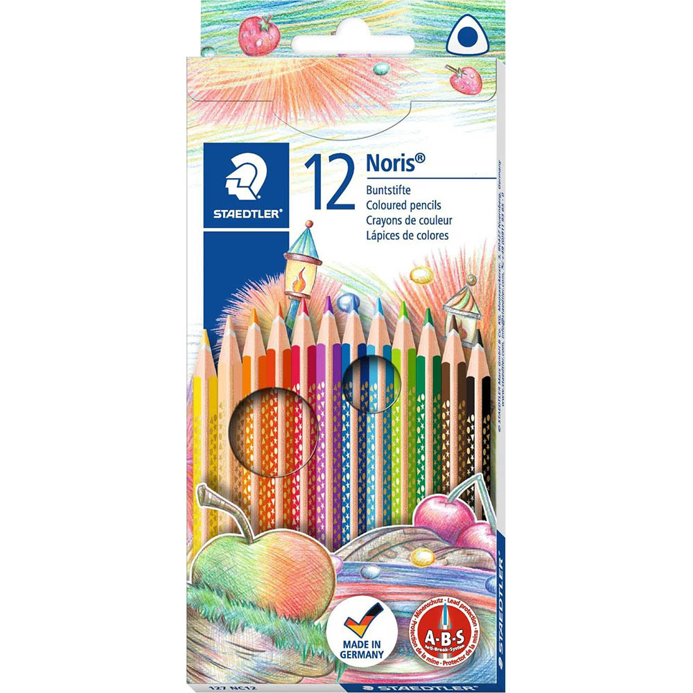 Image for STAEDTLER 127 NORIS CLUB TRIANGULAR COLOURED PENCILS ASSORTED BOX 12 from Paul John Office National