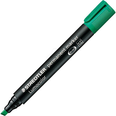 Image for STAEDTLER 350 LUMOCOLOR PERMANENT MARKER CHISEL 5.0MM GREEN from Office National Perth CBD