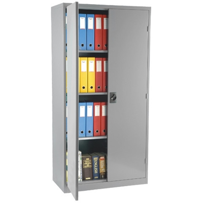 Image for STEELCO STATIONERY CABINET 3 SHELVES 1830 X 914 X 463MM WHITE SATIN from Ezi Office National Tweed
