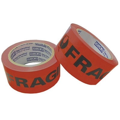 Image for STYLUS 455 PRINTED PACKAGING TAPE FRAGILE 50MM X 66M FLUORO ORANGE from Surry Office National