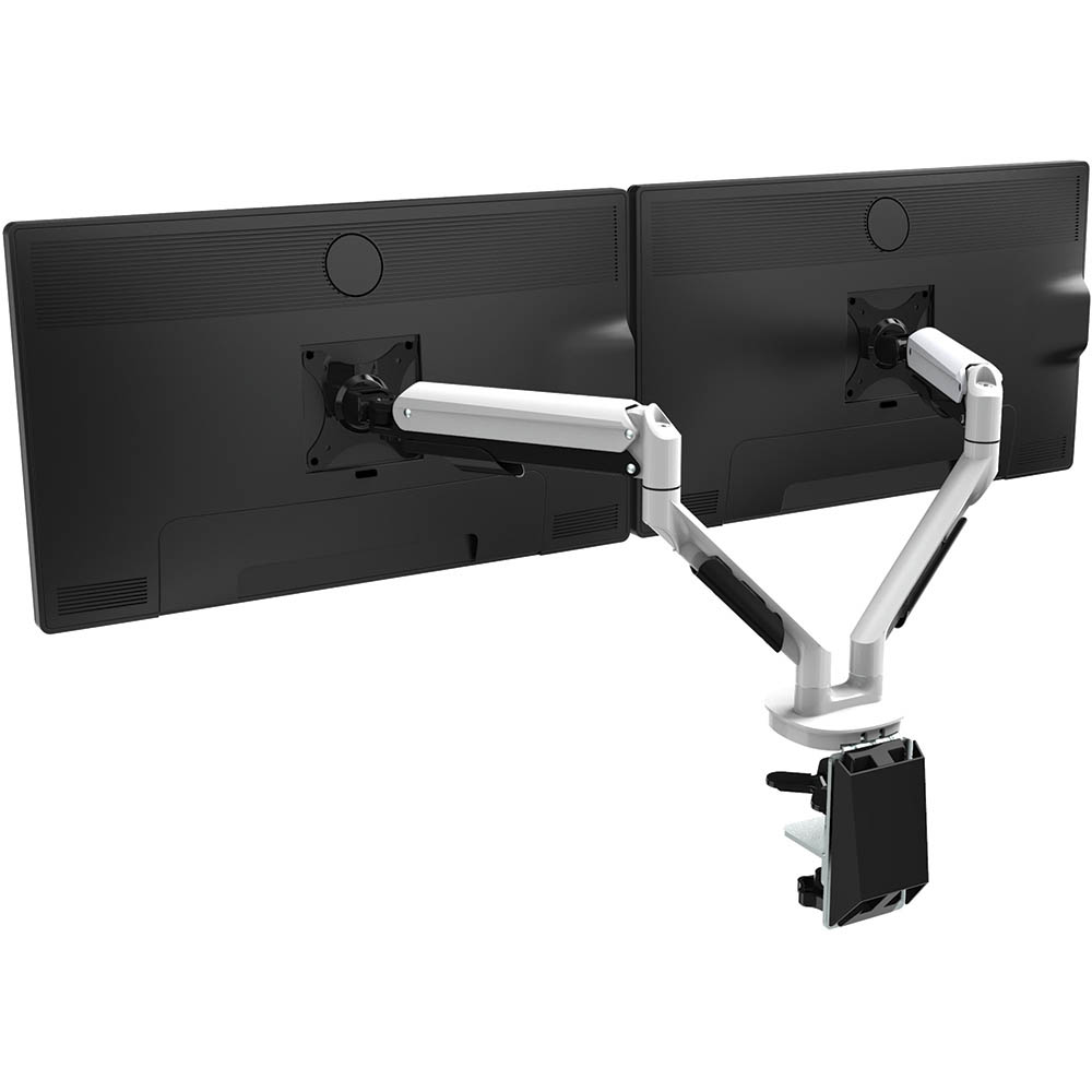 Image for CUTLASS DOUBLE MONITOR ARM WHITE from Pirie Office National
