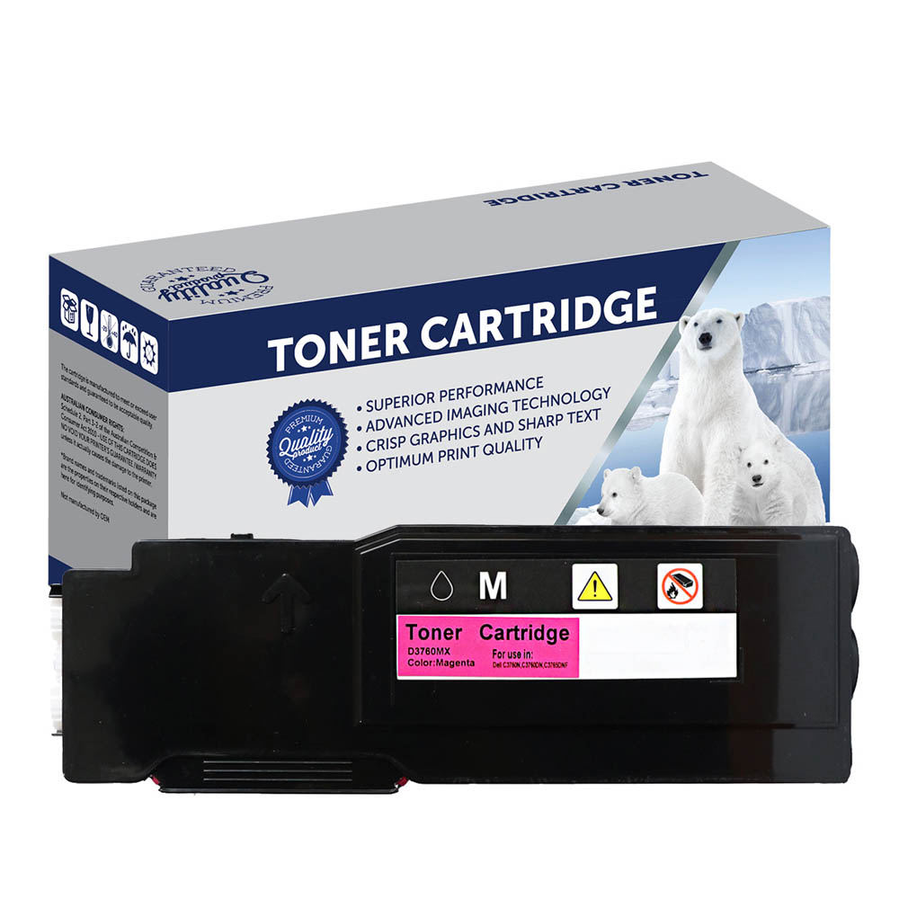 Image for COMPATIBLE DELL 59211838 TONER CARTRIDGE HIGH YIELD MAGENTA from Ezi Office National Tweed