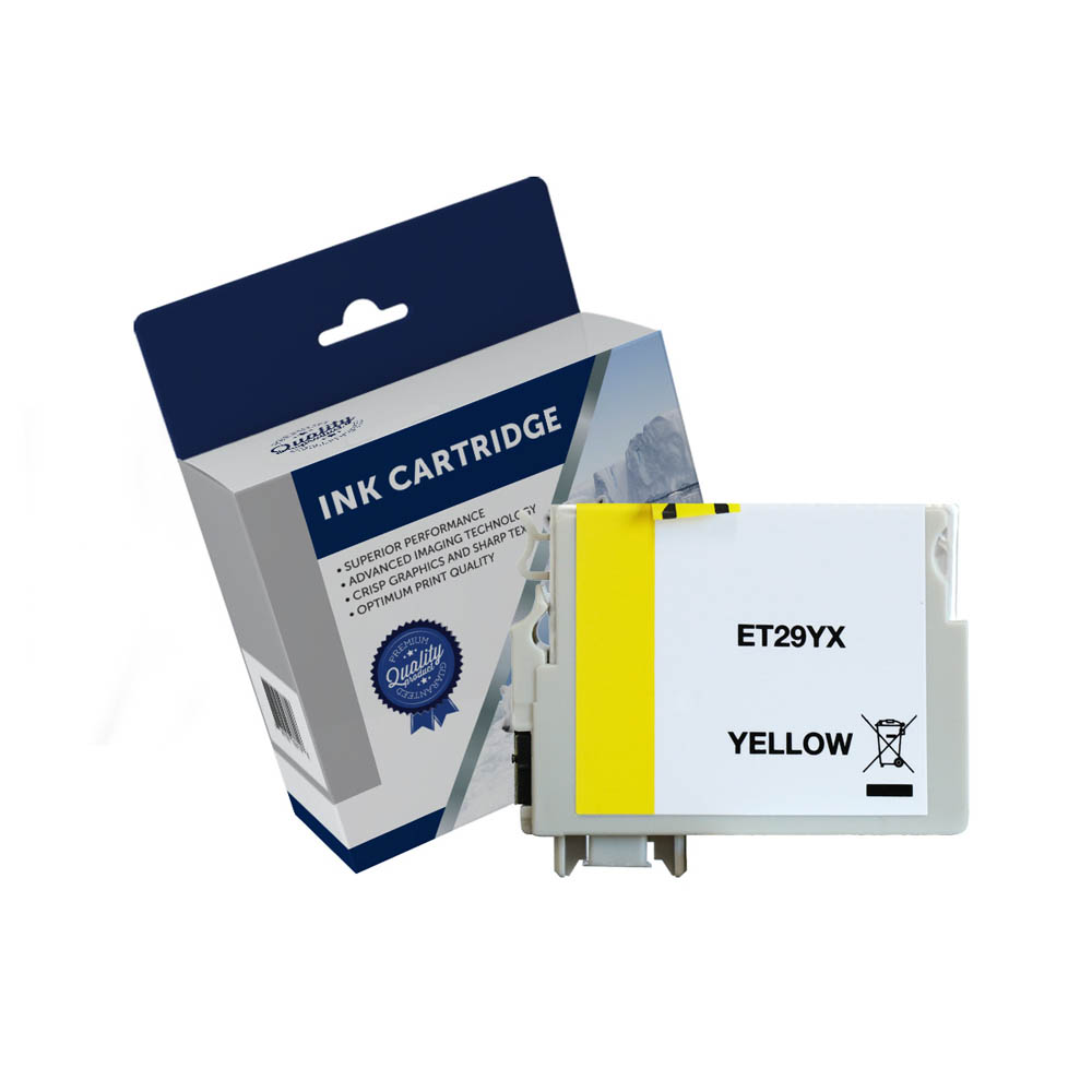 Image for COMPATIBLE EPSON C13T299492 29XL INK CARTRIDGE HIGH YIELD YELLOW from Our Town & Country Office National