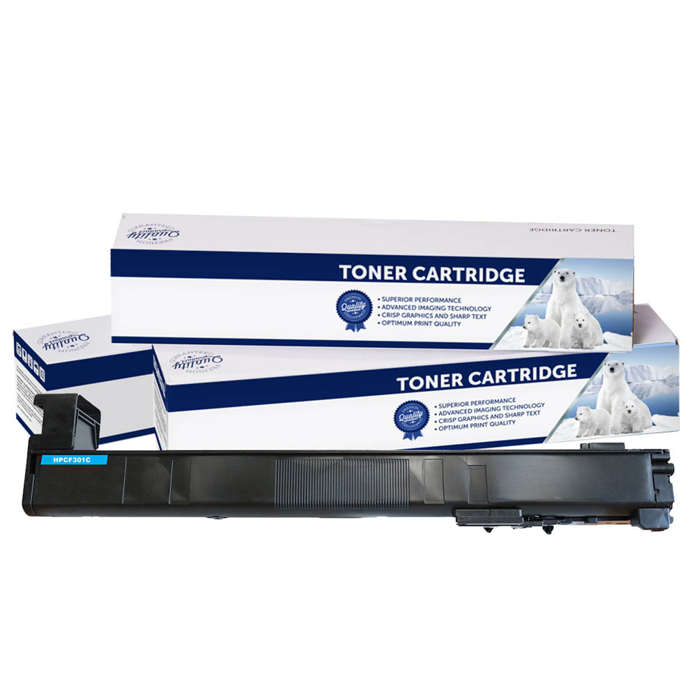 Image for COMPATIBLE HP CF301A 827 TONER CARTRIDGE CYAN from Pirie Office National