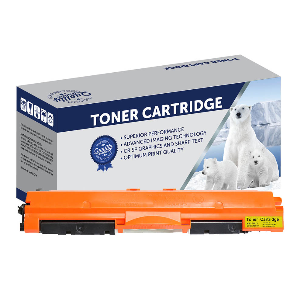 Image for COMPATIBLE HP CF352A 130 TONER CARTRIDGE YELLOW from Pirie Office National