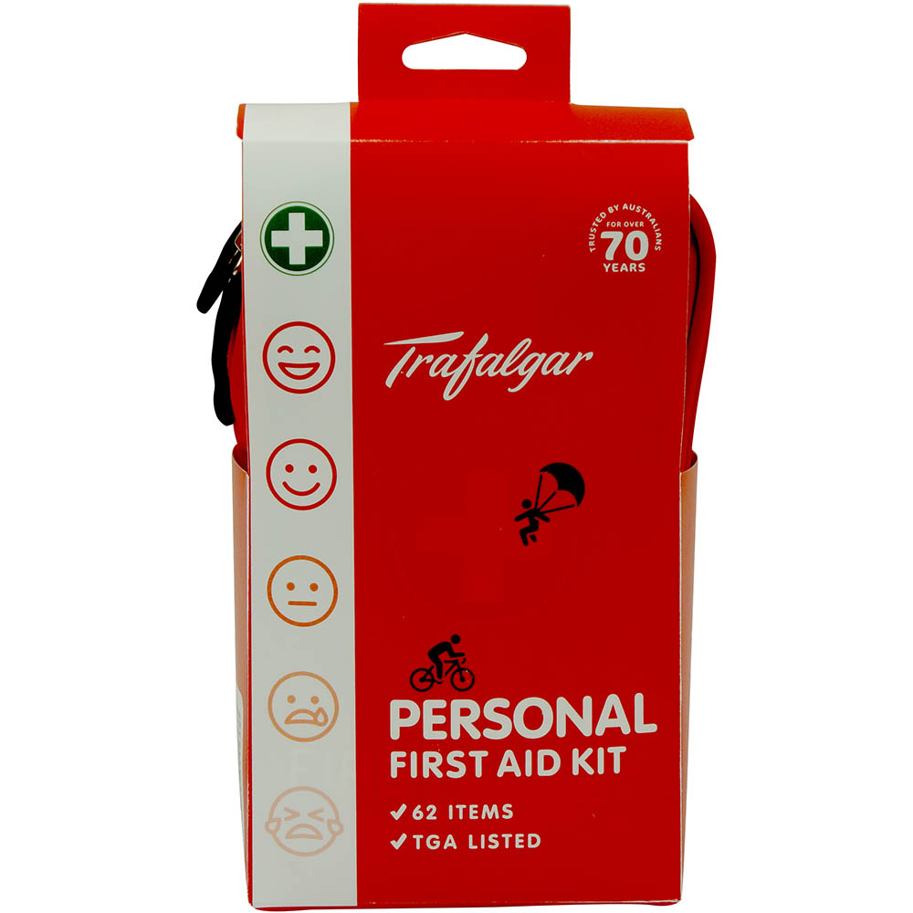 Image for TRAFALGAR PERSONAL FIRST AID KIT SOFT PACK from Wetherill Park / Smithfield Office National