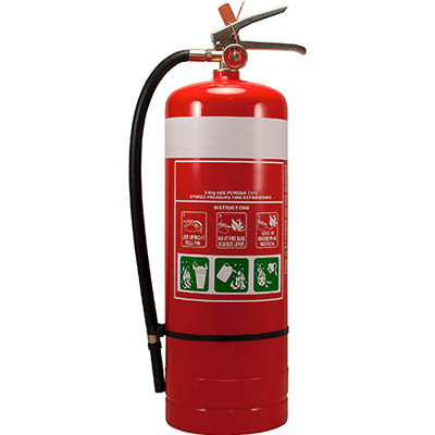 Image for BRADY FIRE EXTINGUISHER ABE DRY CHEMICAL 9KG from Surry Office National