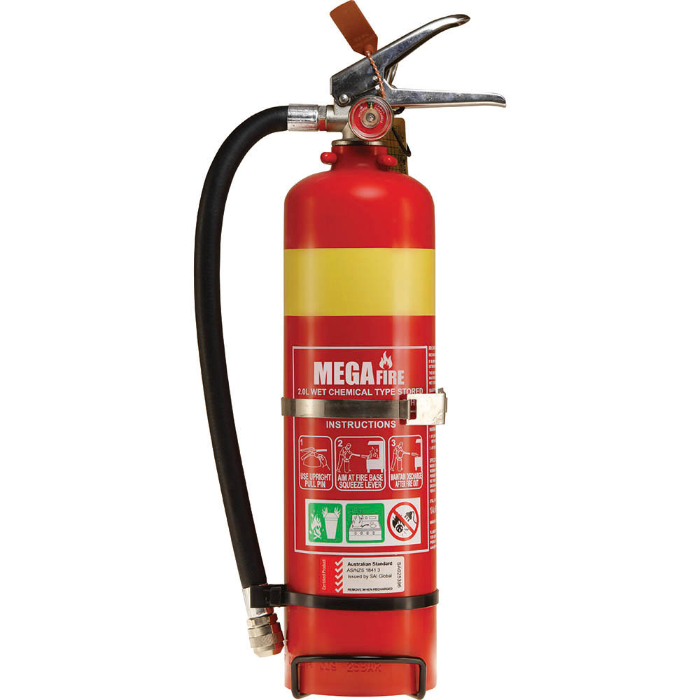 Image for BRADY FIRE EXTINGUISHER WET CHEMICAL WITH WALL HOOK 7 LITRE from Office National Limestone Coast