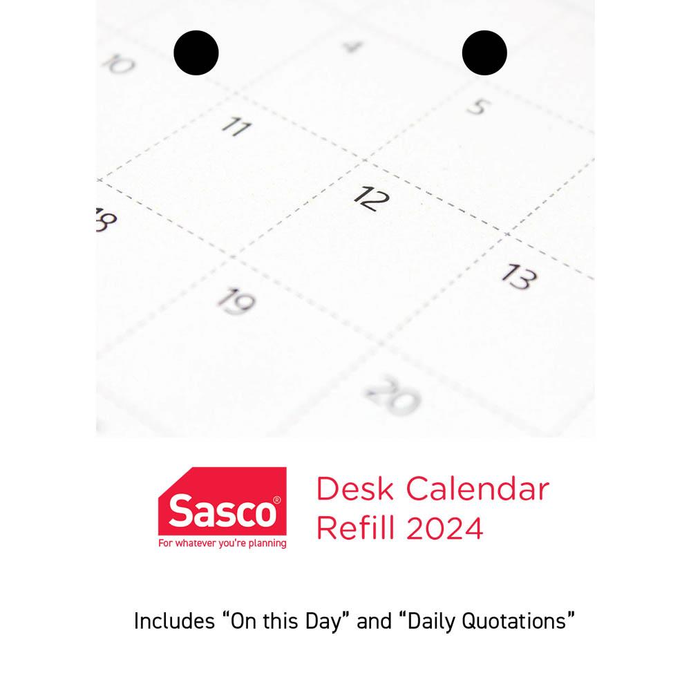 Image for CUMBERLAND 2021 DESK CALENDAR REFILL TOP PUNCH from Paul John Office National