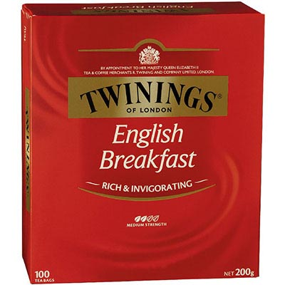 Image for TWININGS TEA BAGS ENGLISH BREAKFAST PACK 100 from Express Office National