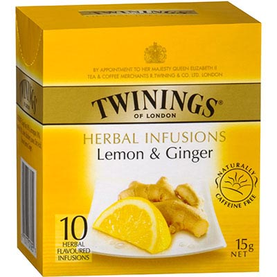 Image for TWININGS TEA BAGS LEMON AND GINGER PACK 10 from Our Town & Country Office National