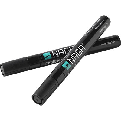 Image for NAGA GLASSBOARD CHALK MARKERS 4.5MM BLACK PACK 2 from Office National Perth CBD