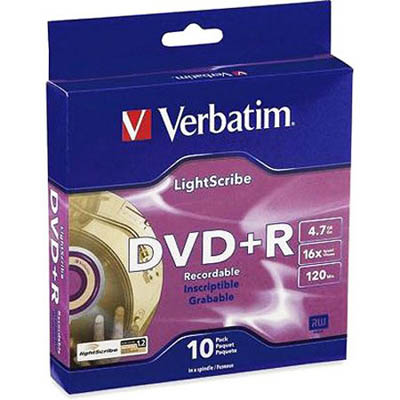 Image for VERBATIM DVD+R 4.7GB 16XSPINDLE PACK 10 from Wetherill Park / Smithfield Office National