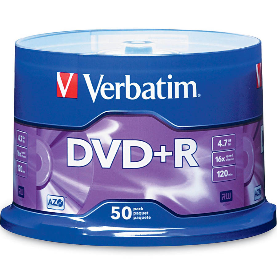 Image for VERBATIM DVD+R 4.7GB 16X SPINDLE PACK 50 from Our Town & Country Office National