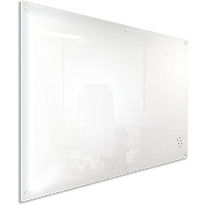 Image for VISIONCHART LUMIERE MAGNETIC GLASSBOARD WITH PEN TRAY 1200 X 900MM WHITE from Memo Office and Art
