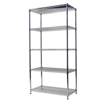 Image for ACERACK WIRE SHELVING 1800 X 1200 X 450MM CHROME from Ezi Office National Tweed