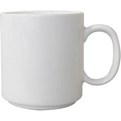 Image for CONNOISSEUR STACKABLE MUG 300ML WHITE PACK 6 from Pirie Office National