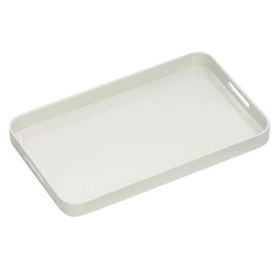 Image for CONNOISSEUR MELAMINE TRAY WITH HANDLES WHITE from Wetherill Park / Smithfield Office National