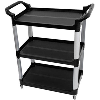 Image for COMPASS COMPACT 3 SHELF UTILITY CART BLACK from Wetherill Park / Smithfield Office National