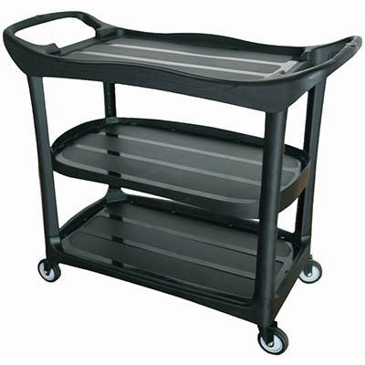 Image for COMPASS 3 SHELF UTILITY CART BLACK from Aztec Office National Melbourne